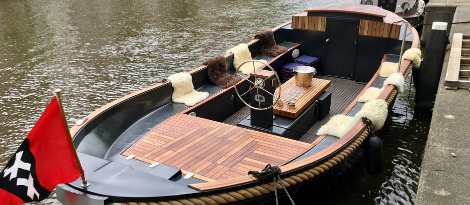 Ongekend Open luxe sloep huren in Amsterdam VN-17
